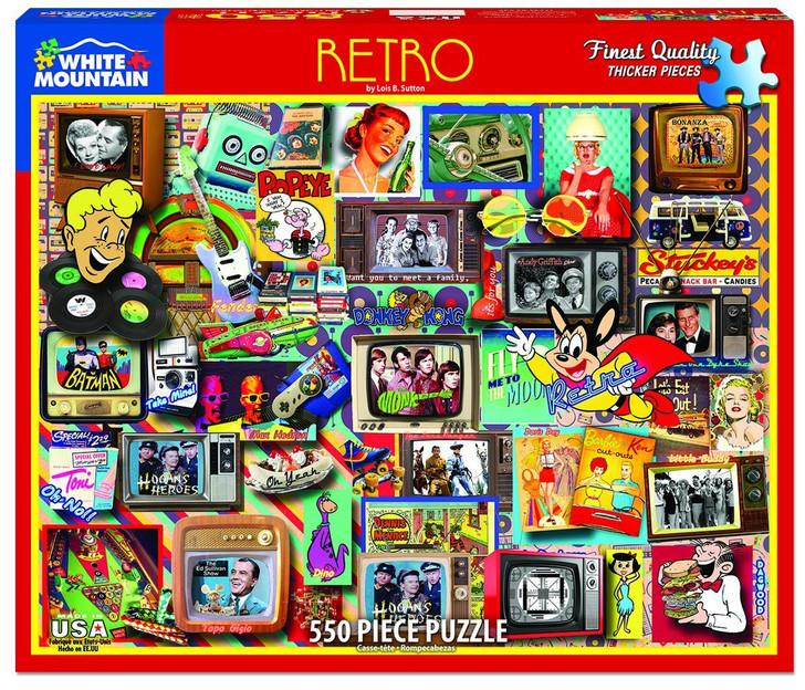 White Mountain 550 Pc. Jigsaw Puzzle - Retro
