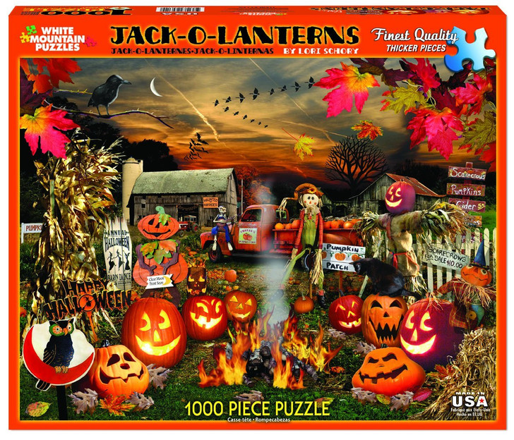White Mountain 1000 Pc. Jigsaw Puzzle - Jack O Lanterns