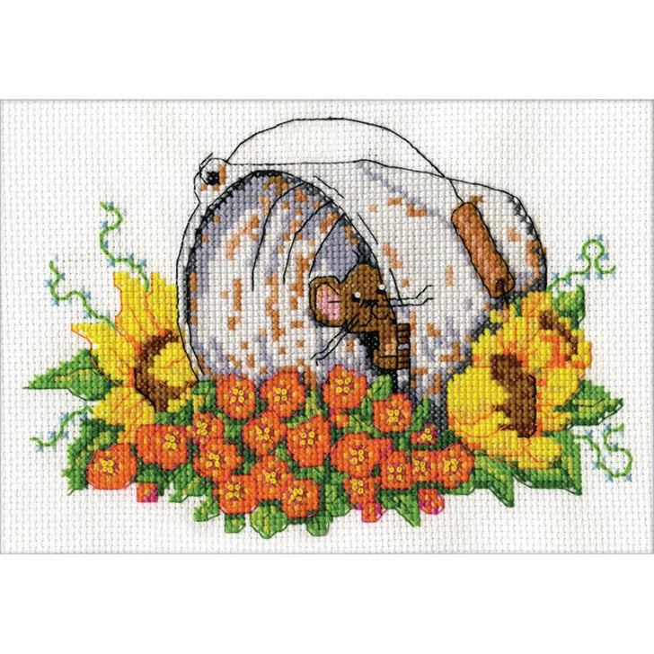 Design Works Counted Cross Stitch Kit - Bucket Mouse