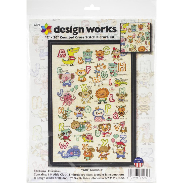 Design Works Counted Cross Stitch Kit - ABC Animals
