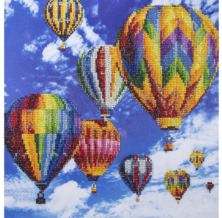Leisure Arts Diamond Art Advanced Kit - Hot Air Balloons