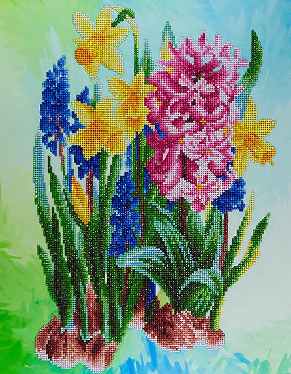 Leisure Arts Diamond Art Advanced Kit - Wildflowers