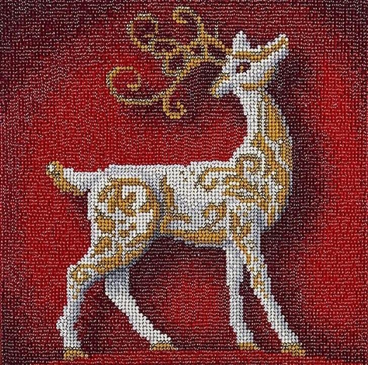 Leisure Arts Diamond Art Holiday Edition Kit - Holiday Reindeer