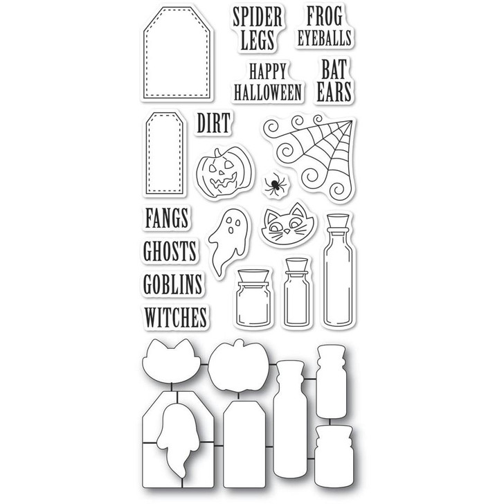 Poppystamps Stamp & Die Set - Halloween Ingredients