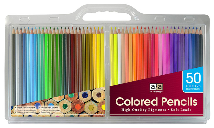 Art Advantage Colored Pencils 50 Colors