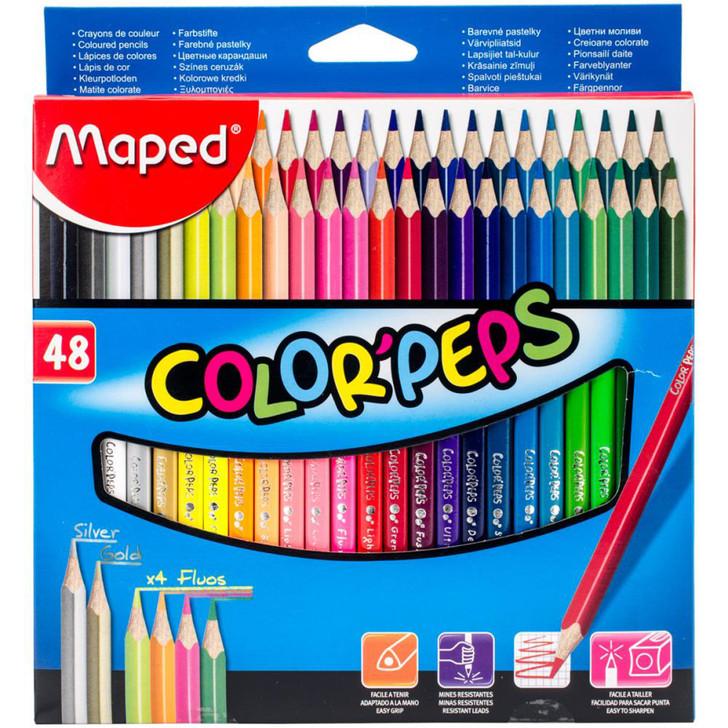 Color'Peps Triangular Colored Pencils 48/Pkg