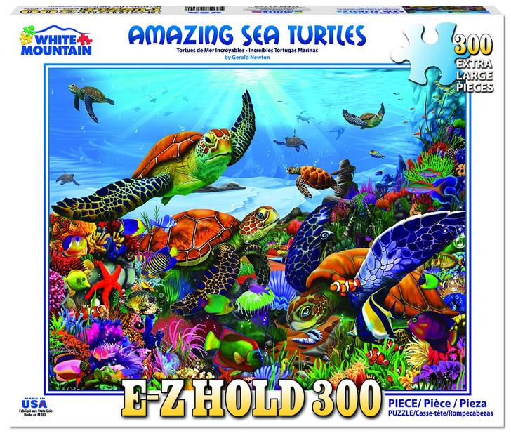White Mountain 300 Pc. Jigsaw Puzzle - Amazing Sea Turtles
