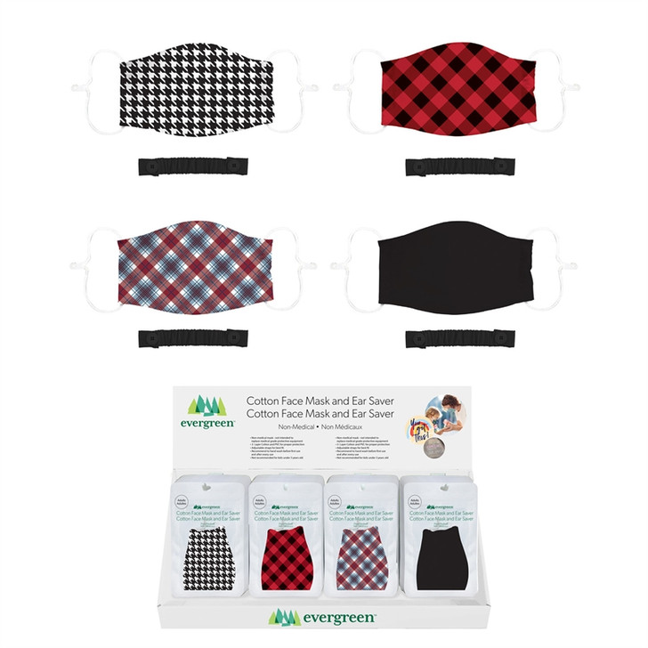 Evergreen Adult Non-Medical Plaid Face Mask