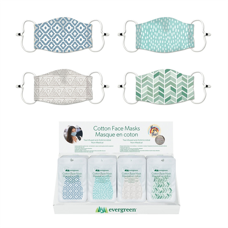 Evergreen Adult Antimicrobial Tea Infused Face Mask