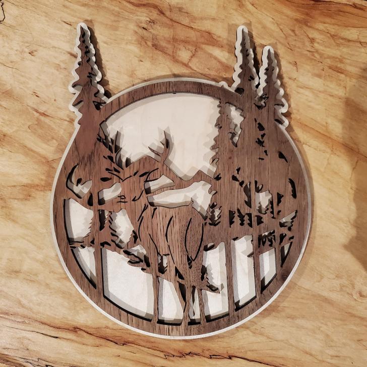 Deer In Forest Laser Cut Wall Art
