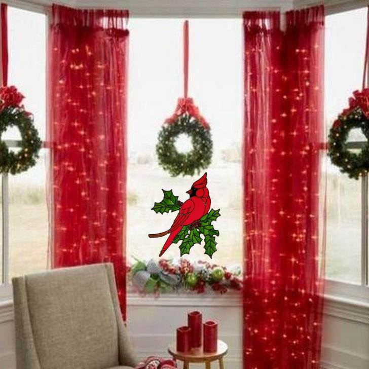 Holiday Cardinal Window Cling