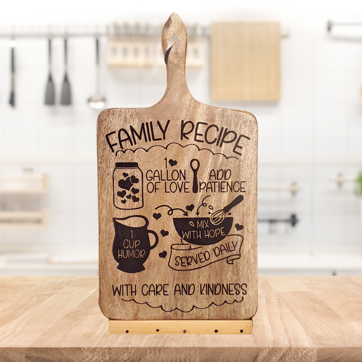 Family Recipe Cutting Board ~ Laser Engraved