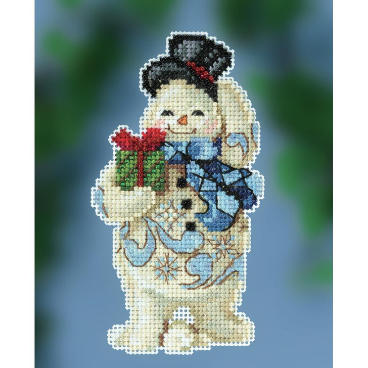 Mill Hill/Jim Shore Gift Giving Snowman Counted Cross Stitch Kit