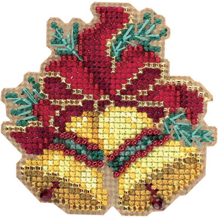Mill Hill Christmas Bells Counted Cross Stitch Magnet Kit