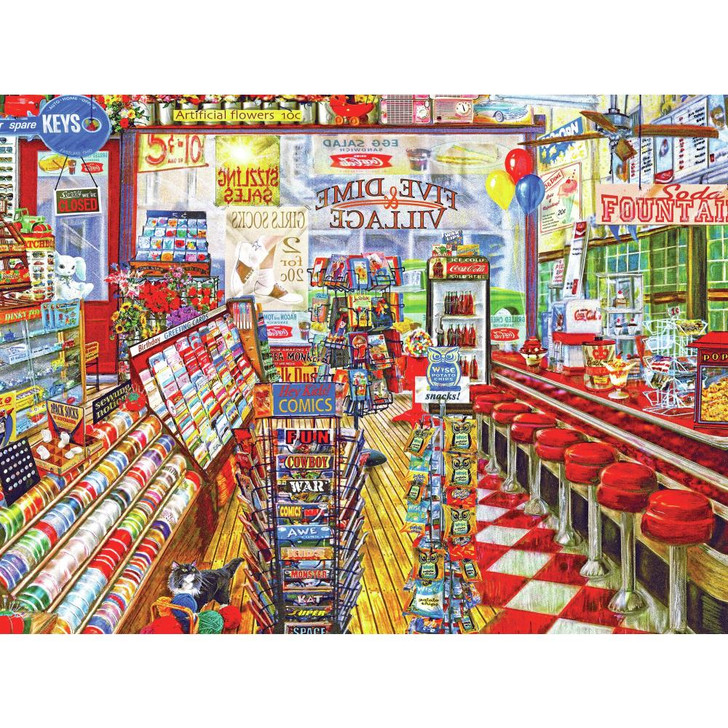 Cra-Z-Art The Local Five And Dime Jigsaw Puzzle 1000 Pieces