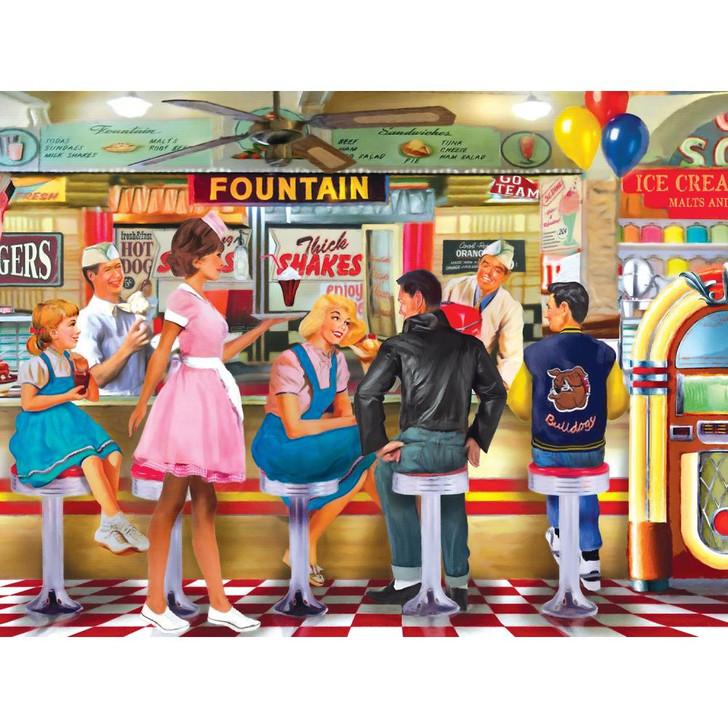 Cra-Z-Art Soda & Ice Cream Parlor Jigsaw Puzzle 1000 Pieces