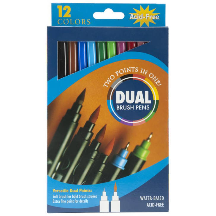 Pro Art Dual Brush Pen Set 12/Pkg