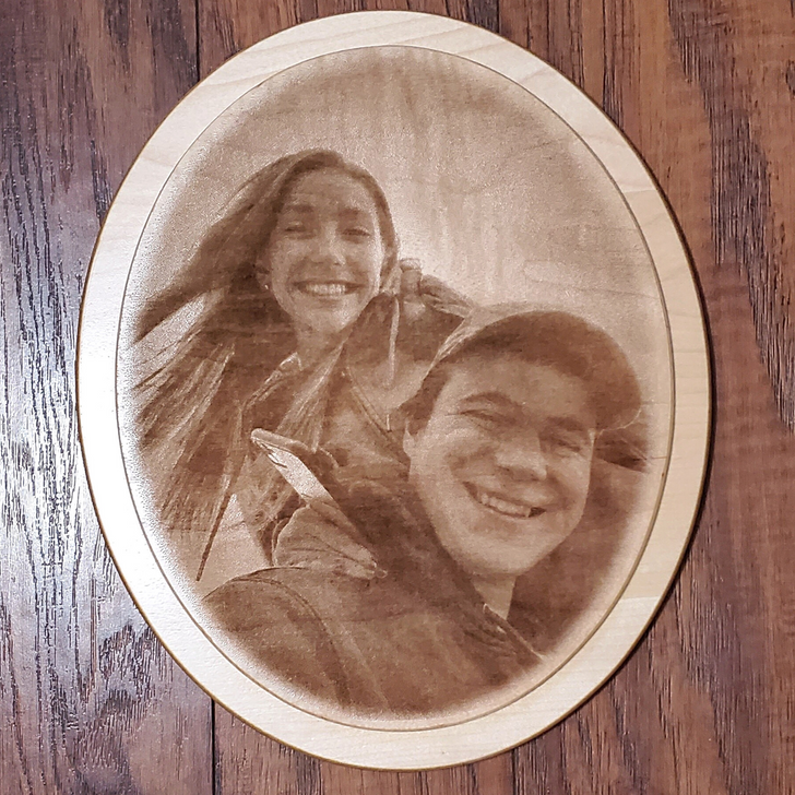 Personalized Photo Laser Etched Wall Plaque