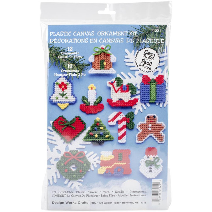 Design Works Country Christmas Plastic Canvas Ornament Kit