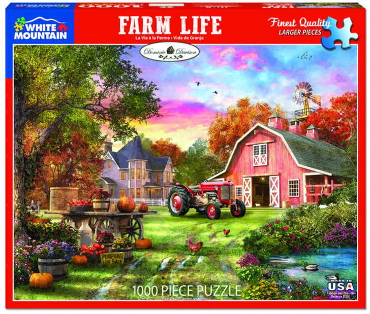 White Mountain Farm Life - 1000 Pc. Jigsaw Puzzle