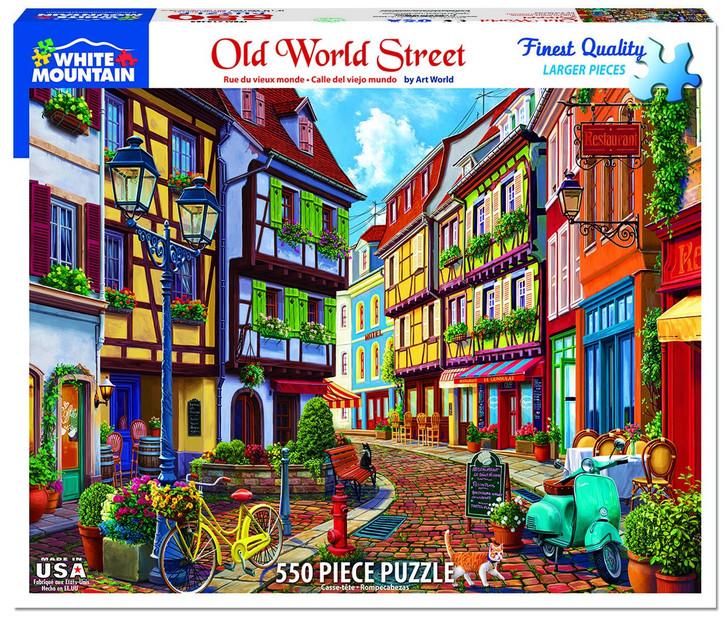 White Mountain Old World Street - 550 Pc. Jigsaw Puzzle