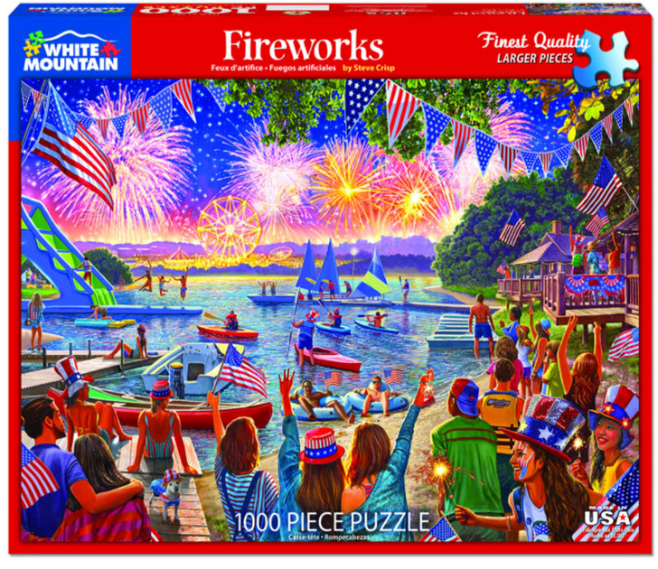 White Mountain Fireworks - 1000 Pc. Jigsaw Puzzle