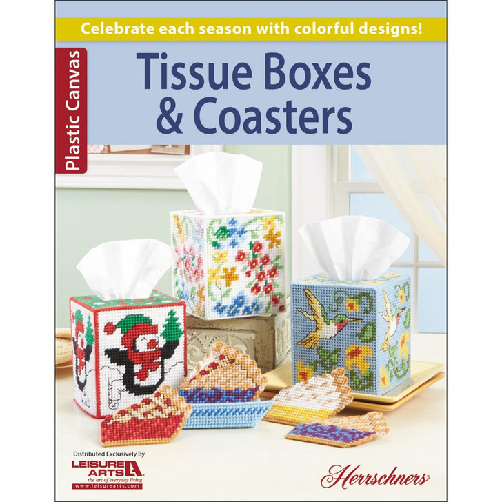 Leisure Arts Tissue Boxes & Coasters Pattern Book
