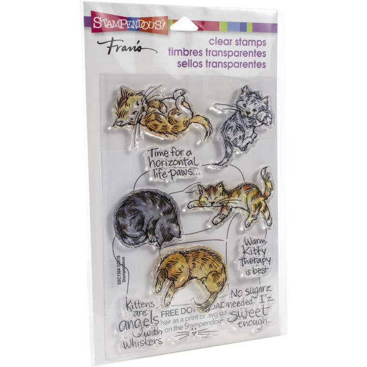 Stampendous Kitty Therapy Clear Stamps
