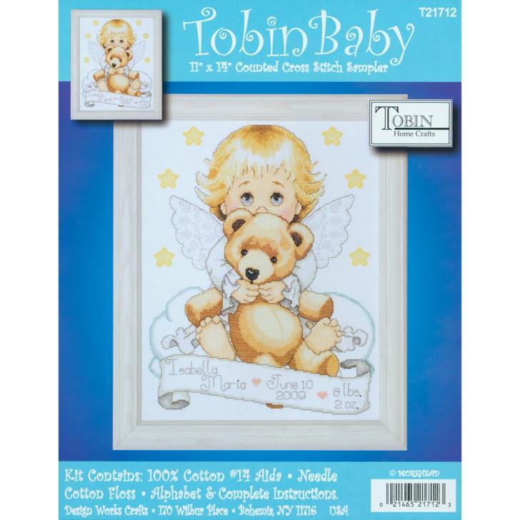 Tobin Angel Birth Record Counted Cross Stitch Kit