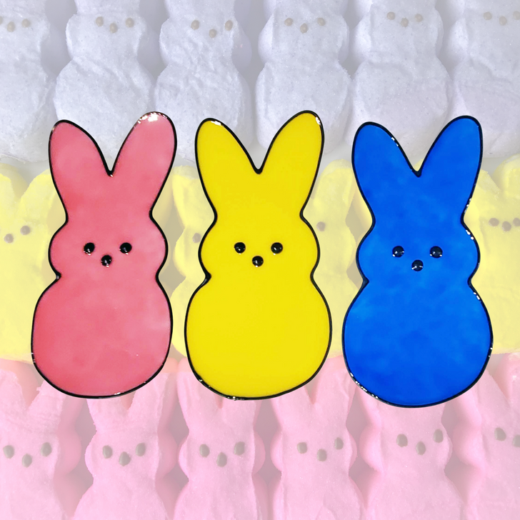 Easter Peeps Window Cling - Faux Stained Glass