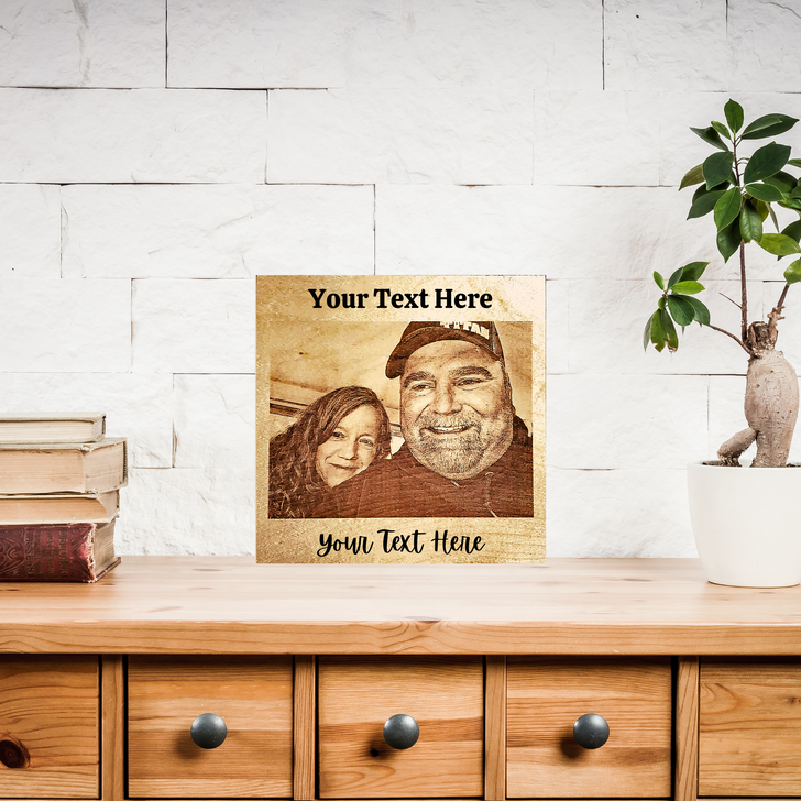 Personalized Engraved Laser Photo ~ Laser Etched Picture ~ Customizable Etched Photo