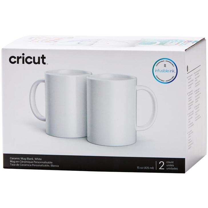 Cricut Mug Press Ceramic Mug Blank 15oz 2/Pkg