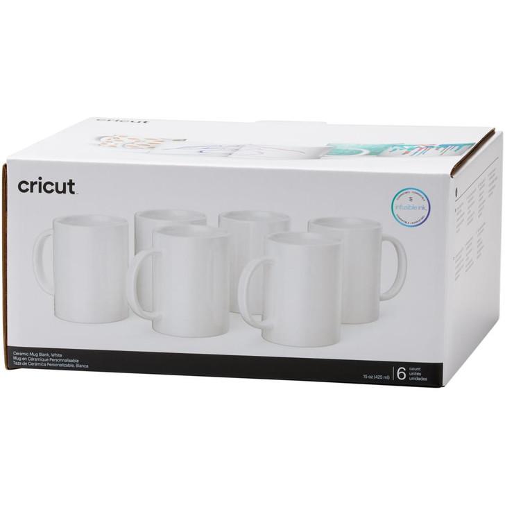 Cricut Mug Press Ceramic Mug Blank 15oz 6/Pkg