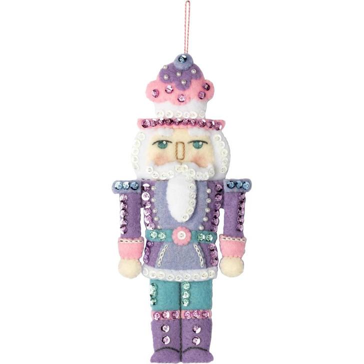 Bucilla Nutcracker Sweet Felt Applique Ornaments Kit