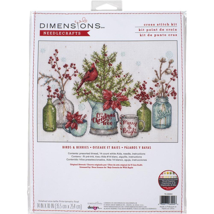 Dimensions Birds And Berries Counted Cross Stitch Kit