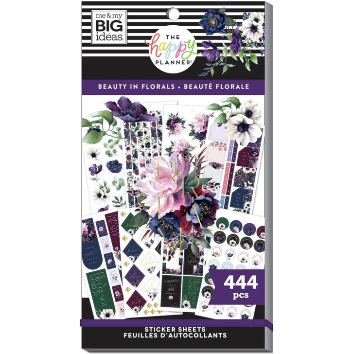 Happy Planner Beauty In Florals Sticker Pad ~ 444/Pkg