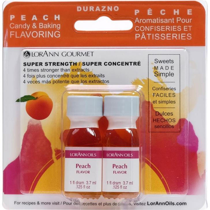 Lorann Oils Peach Candy & Baking Flavoring .125oz 2/Pkg