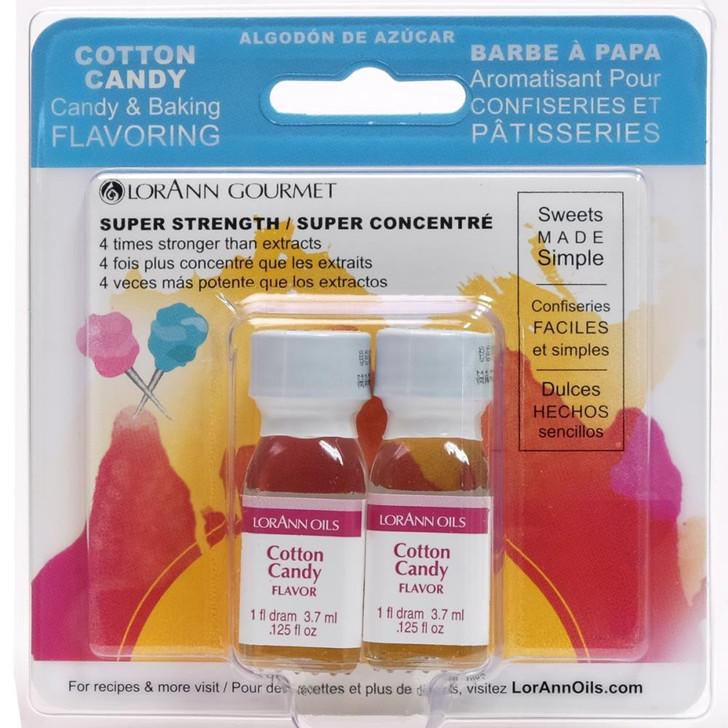 Lorann Oils Cotton Candy Candy & Baking Flavoring .125oz 2/Pkg