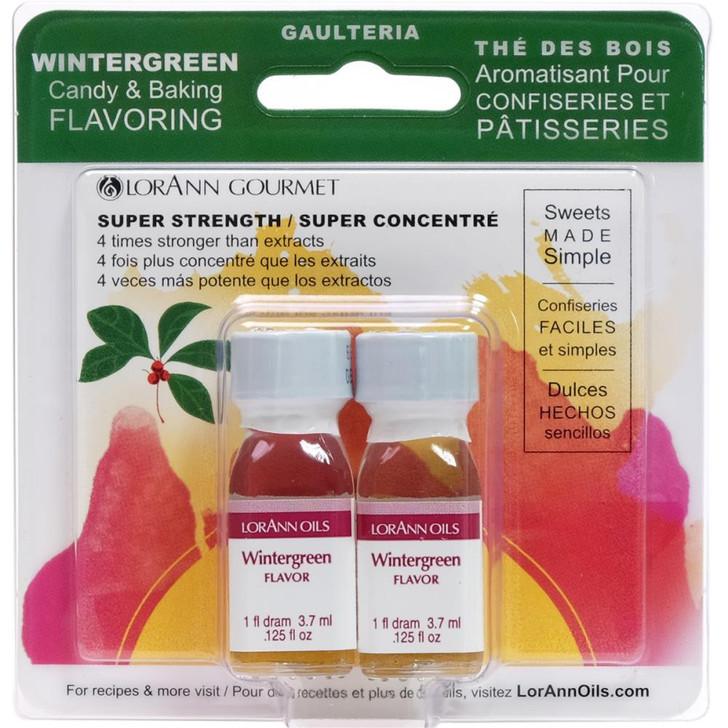 Lorann Oils Wintergreen Candy & Baking Flavoring .125oz 2/Pkg