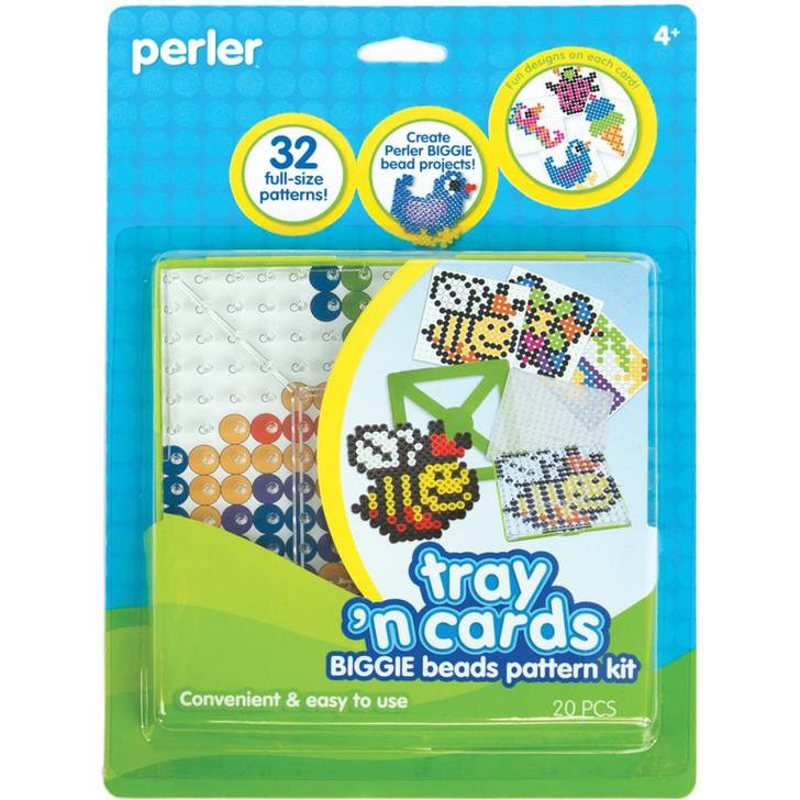 Perler Tray 'n Cards BIGGIE Pattern Kit