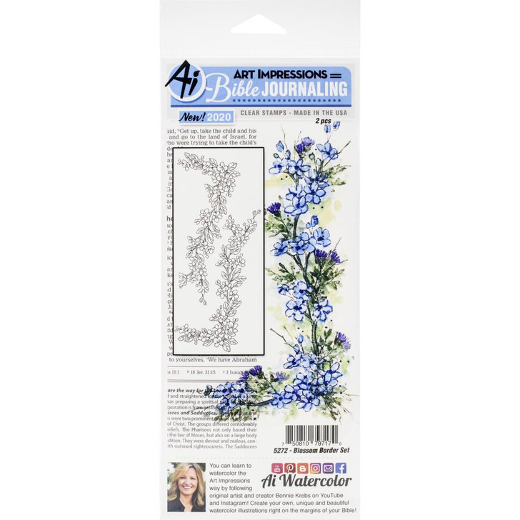 Art Impressions Blossom Border Bible Journaling Clear Stamps