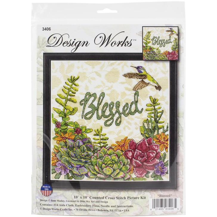 Design Works Blessed Counted Cross Stitch Kit