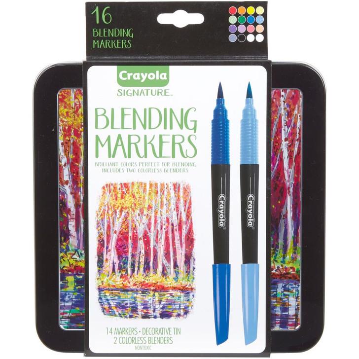Crayola Signature Blending Markers W/Tin 14/Pkg