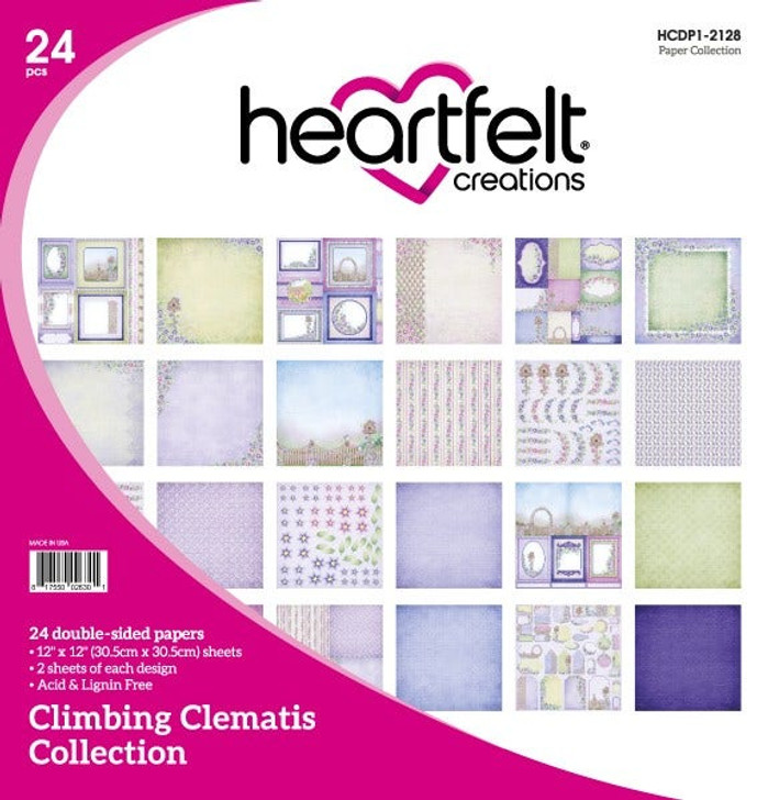 Heartfelt Creations Climbing Clematis Collection Double-Sided Paper Pad