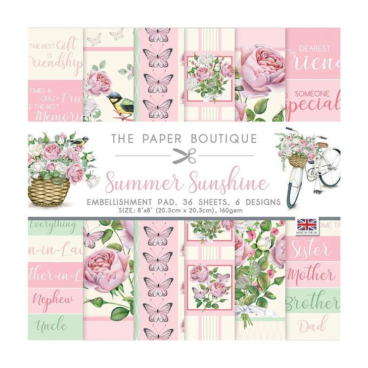 The Paper Boutique Summer Sunshine Embellishments Paper Pad