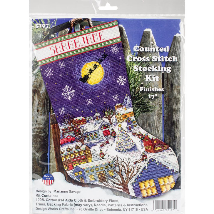Design Works Christmas Eve Counted Cross Stitch Stocking Kit