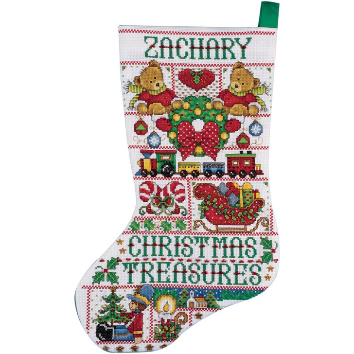 Design Works Christmas Treasure Counted Cross Stitch Stocking Kit