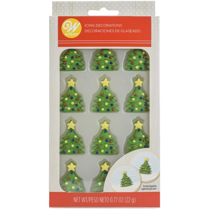 Wilton Christmas Trees Icing Decorations 12/Pkg