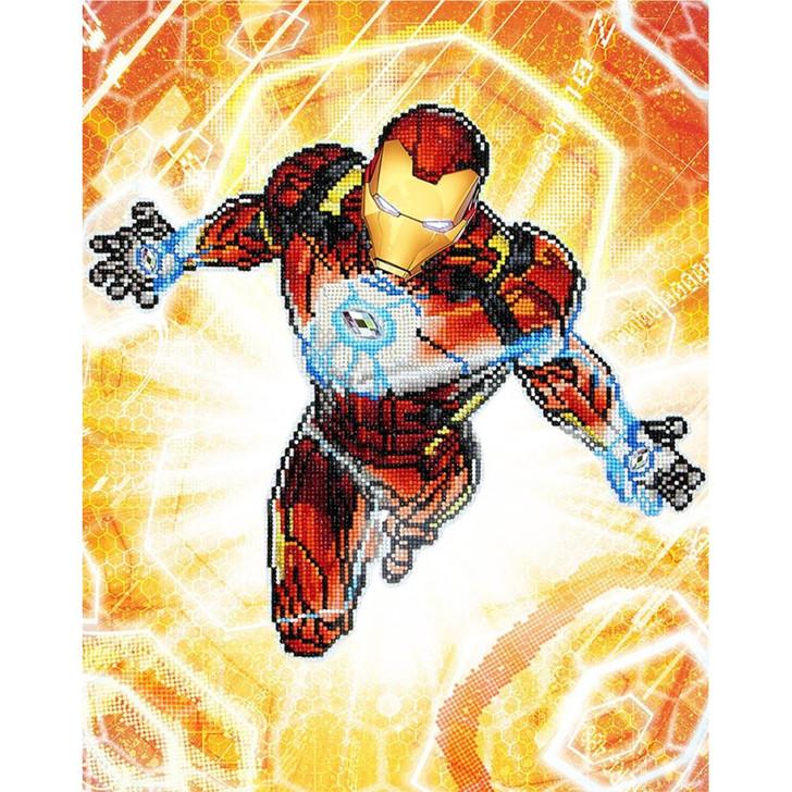 Camelot Dotz Marvel Iron Man - Blast Off Diamond Facet Art Kit