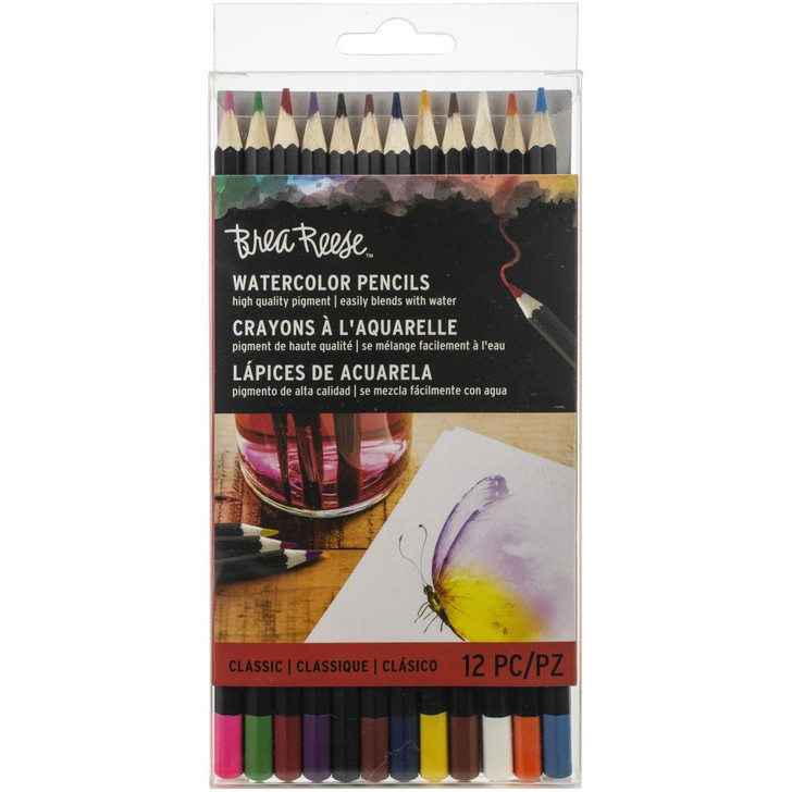Brea Reese Classic Watercolor Pencils 12/Pkg